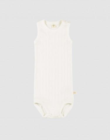 Baby body uden ærmer i økologisk bomuld Hvid