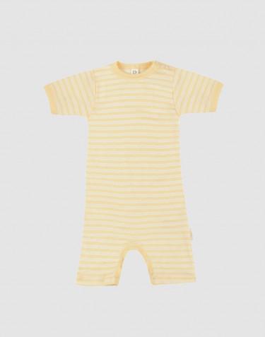 Sommerdragt til baby i økologisk uld-silke Lys gul/natur