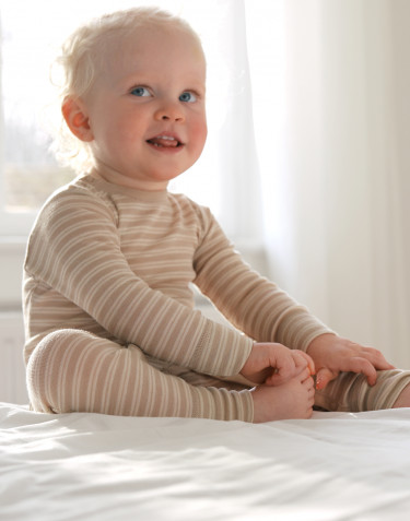 Merinould/silke heldragt til baby