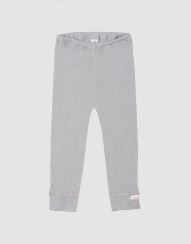 Leggings til baby i økologisk uld-silke grå