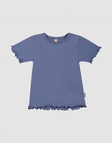 Økologisk bomulds T-shirt med bølgekanter til børn