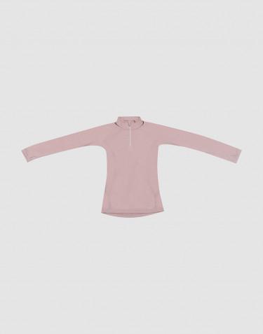 Trøje til børn - Eksklusiv økologisk merino uld Gammelrosa