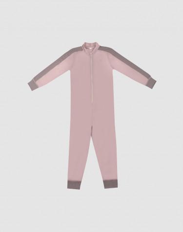 Heldragt til børn - Eksklusiv økologisk merino uld Gammelrosa