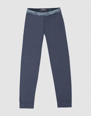 Leggings til børn - Eksklusiv økologisk merino uld Blågrå