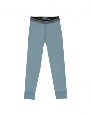 Leggings til børn - eksklusiv merino uld mineral blå