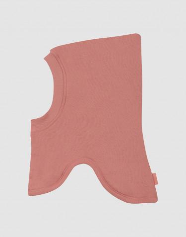Elefanthue i uldfrotté til børn mørk rosa