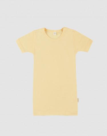 T-shirt til børn i økologisk uld-silke Lys gul