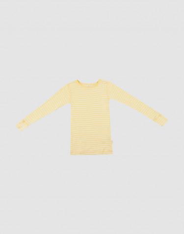 Langærmet trøje til børn i økologisk uld-silke Lys gul/natur