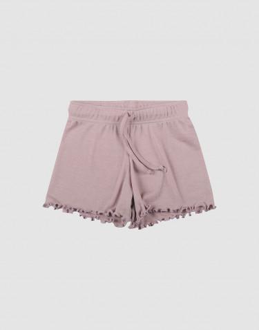 Shorts i økologisk uld-silke pastelrosa