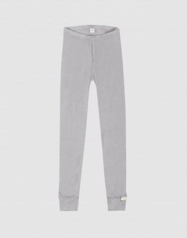 Børne leggings i økologisk uld-silke grå