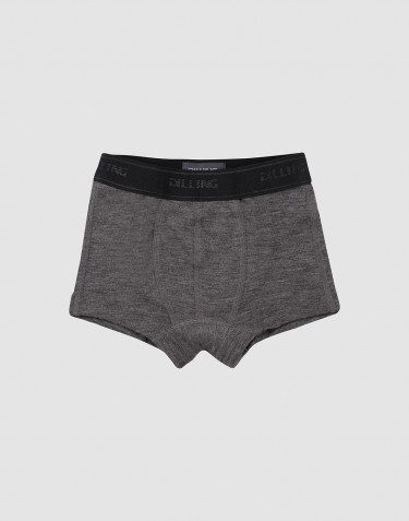Drenge tights - økologisk merino uld mørk gråmelange