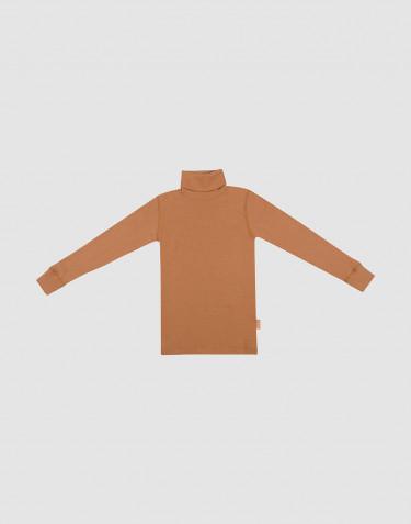 Rullekrave i merino uld til børn Karamel