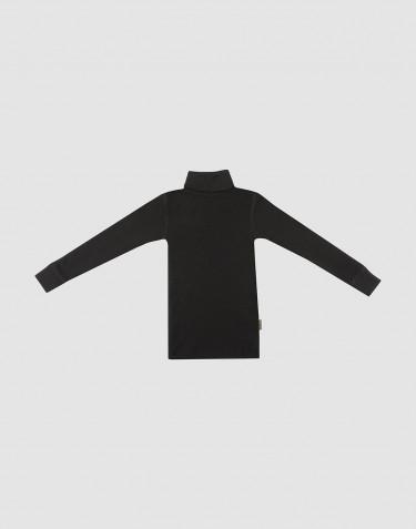 Rullekrave i merino uld til børn sort
