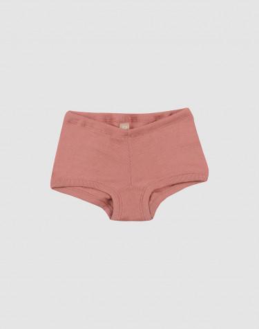 Pige Hipster - økologisk merino uld mørk rosa