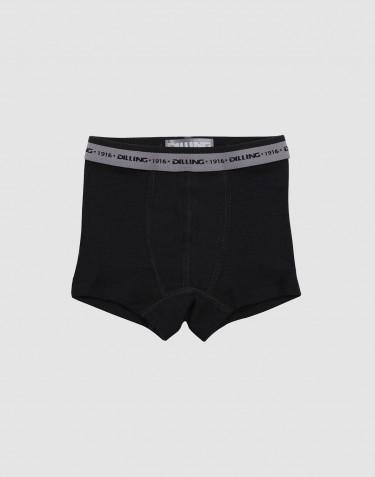 Drenge tights - økologisk merino uld sort