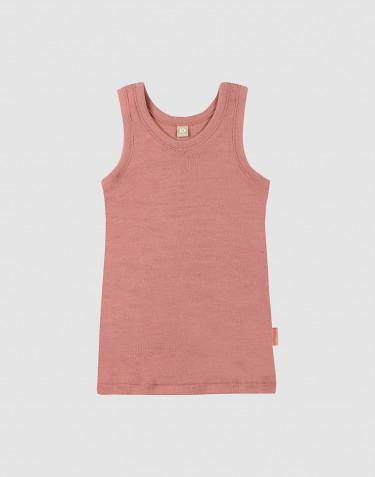 Uldundertrøje til børn mørk rosa