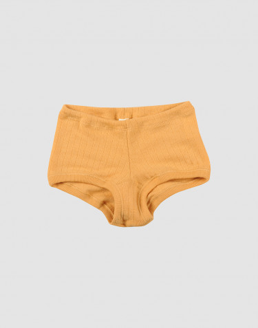 Pige hipster i bred uldrib gul