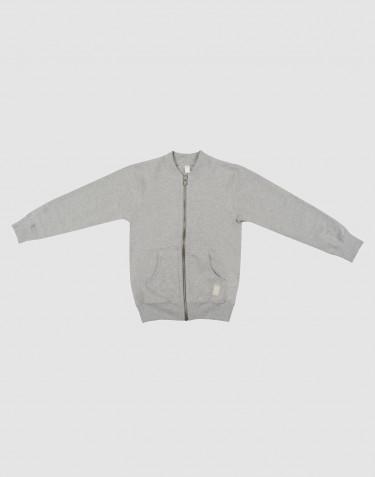 Sweatshirt med lynlås til børn gråmelange
