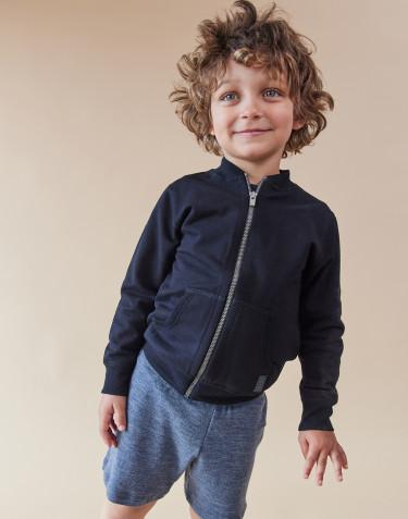 Sweatshirt med lynlås til børn sort