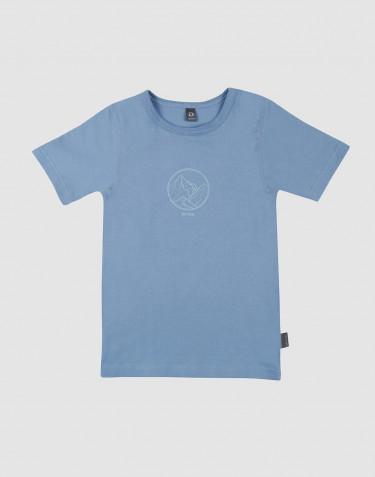 Børne t-shirt med print bomuld blå