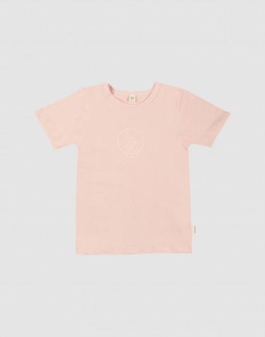 Børne t-shirt med print bomuld rosa