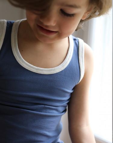 Bomuldsundertrøje til børn