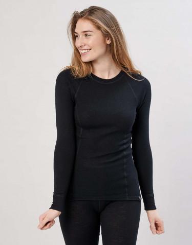 Merino trøje med høj halsudskæring sort