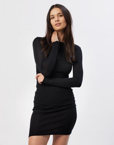 Tube nederdel til kvinder sort