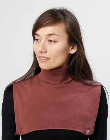 Halsedisse til kvinder i økologisk merino uld rouge