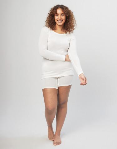 Merino uldshorts med bred elastikkant til damer natur