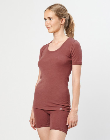 Merino t-shirt til damer rouge