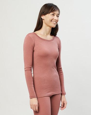 Trøje til damer - økologisk merino uld rosa