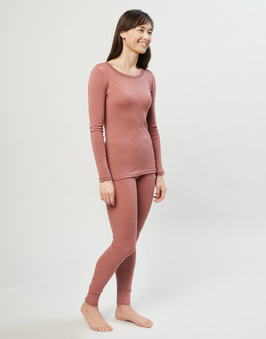 Merino uldleggings til damer rosa
