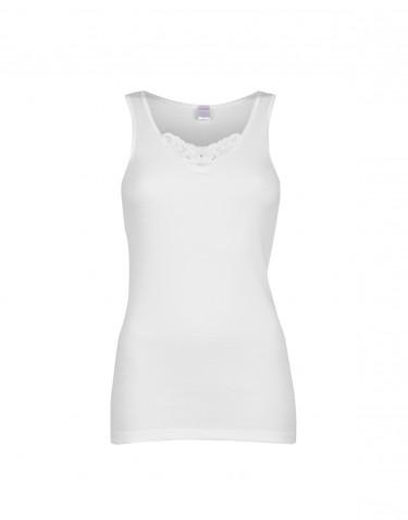 Store DILLING dame undertrøje i bomuld hvid