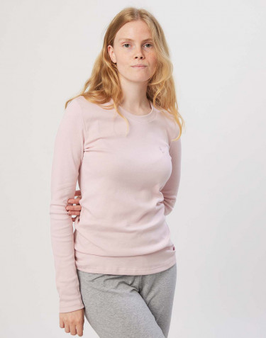Nattrøje til damer i bomuld rosa