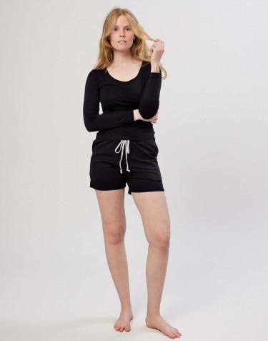 Shorts til damer i bomuld sort