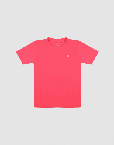 Børne t-shirt med UV-beskyttelse UPF 50+ pink