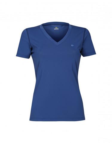 Dame t-shirt med UV-beskyttelse UPF 50+ blå