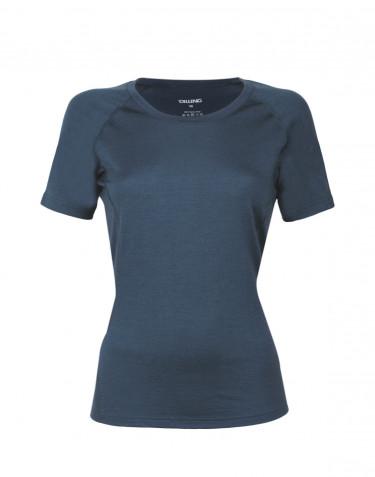 Merino t-shirt dame - eksklusiv merino uld mørk blå