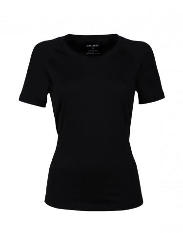 Merino t-shirt dame - eksklusiv merino uld sort
