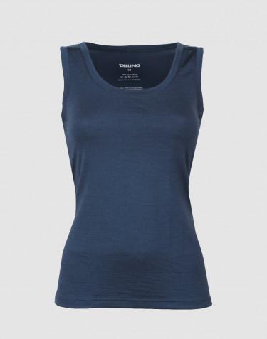 Uldundertrøje dame - eksklusiv merino uld mørk blå