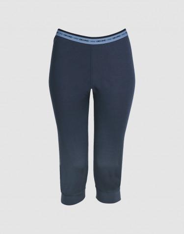 ¾ leggings dame - eksklusiv merino uld mørk blå