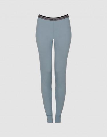Leggings dame - eksklusiv merino uld mineral blå