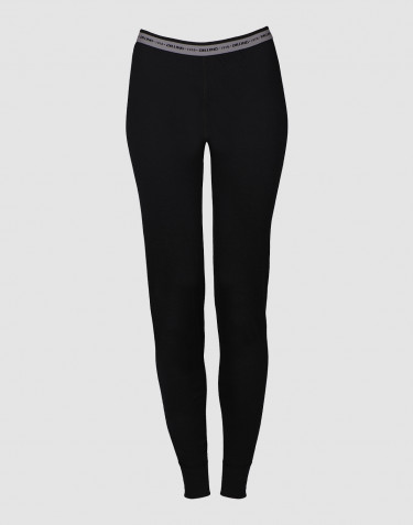 Leggings dame - eksklusiv merino uld sort
