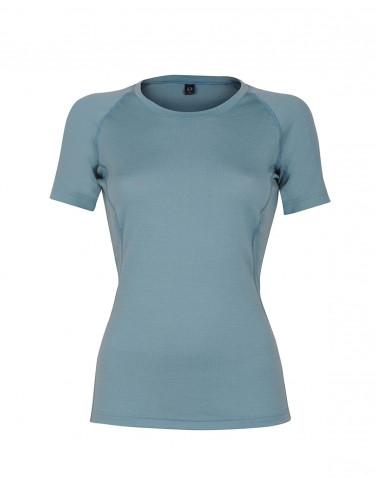 Merino t-shirt dame - eksklusiv merino uld mineral blå