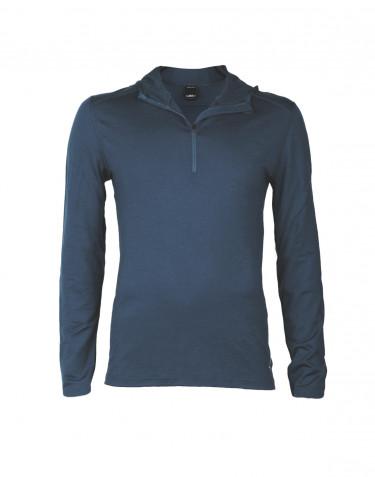Trøje med hætte til mænd - eksklusiv merinould mørkeblå