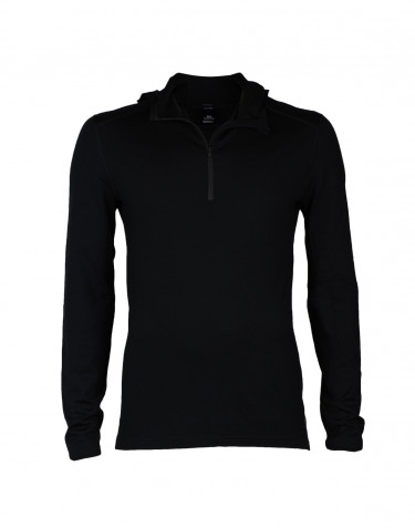 Trøje med hætte til mænd - eksklusiv merinould sort