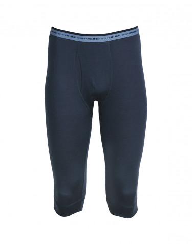¾ Leggings Mænd - eksklusiv merino uld mørk blå