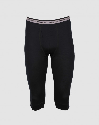 ¾ Leggings Mænd - eksklusiv merino uld sort