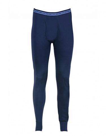 Lange underbukser mænd - eksklusiv merino uld mørk blå